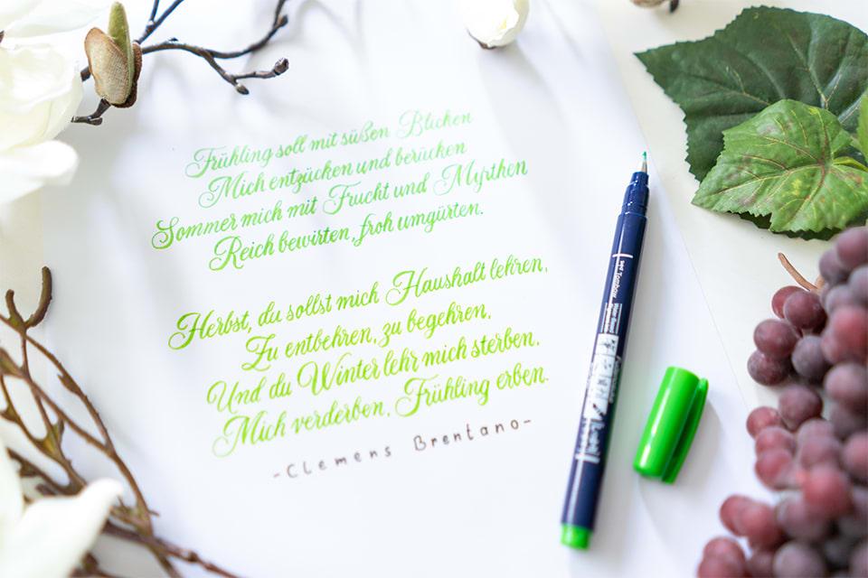 Gedicht in Handschrift